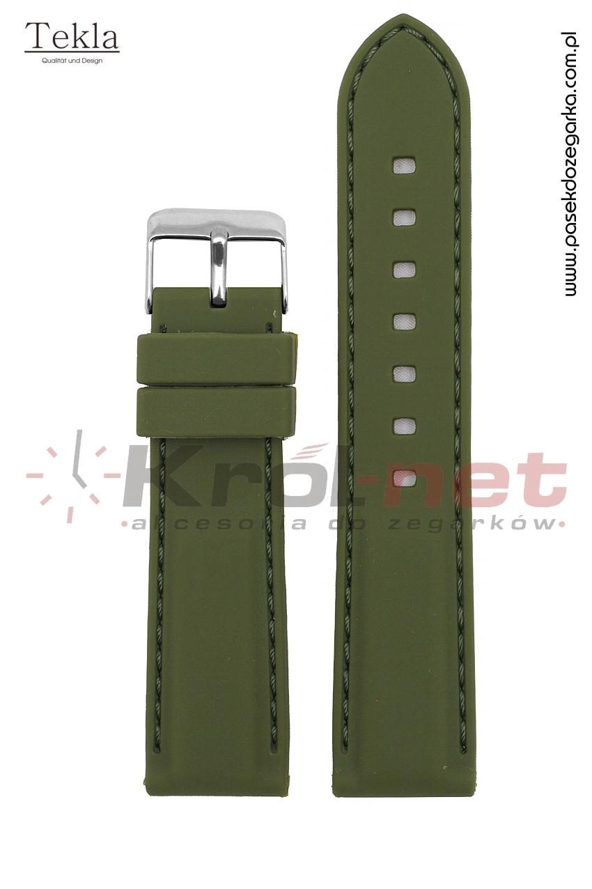 Pasek RP051ZIE/24 - zielony, silikonowy