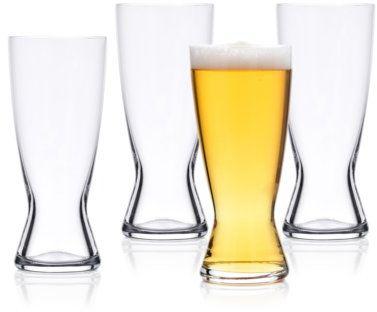 Zestaw 4 szklanek do piwa DUKA BEER 420 ml transparentny szkło