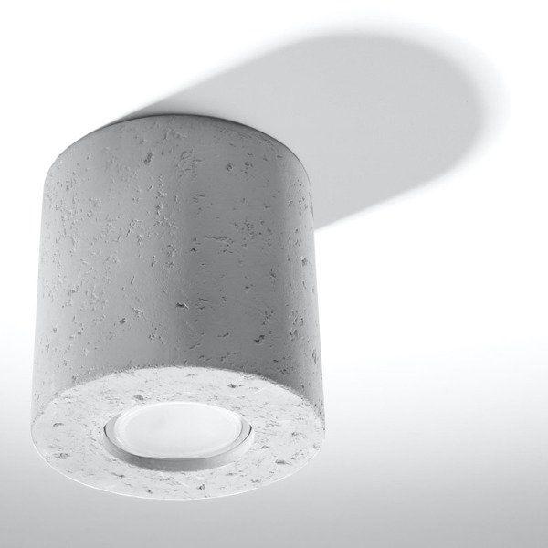 Lampa sufitowa Sollux Plafon ORBIS 1 beton szary 1x GU10 LED 6W, 3000K, SL.0488