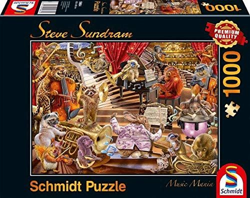 Schmidt Spiele 59664 Steve Sundram, Music Mania, 1000 części puzzle