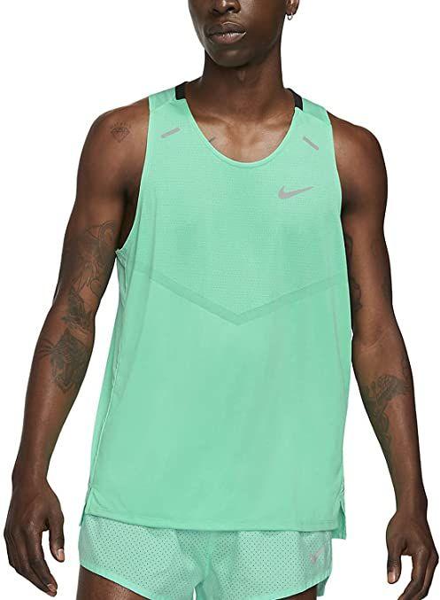 Nike Df Rise 365 T-Shirt Green Glow/Reflective Silv