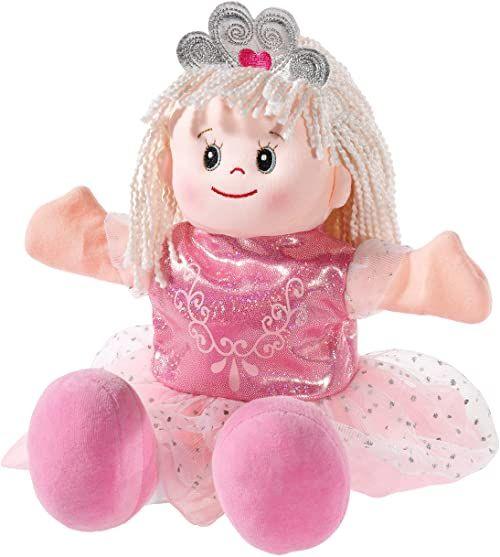 Heunec 395077 pluszowe zwierzę, lalka do zabawy, teatru dla lalek, księżniczka, różowa