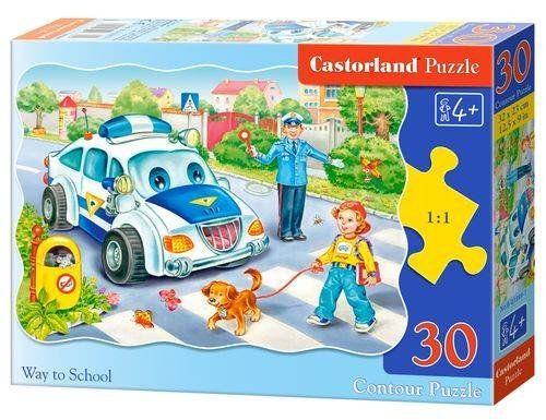 Puzzle 30 Policja droga do szkoły B-03389 - CASTOR