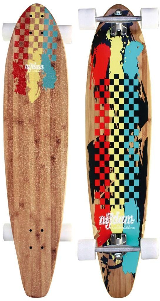 Deskorolka longboard z bambusa Rasta Revolution Nijdam