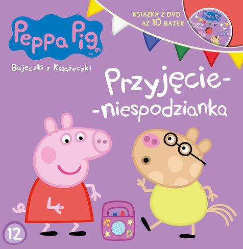 Świnka Peppa Bajeczki z książeczki Nr 12 Przyjęcie-niespodzianka ZAKŁADKA DO KSIĄŻEK GRATIS DO KAŻDEGO ZAMÓWIENIA