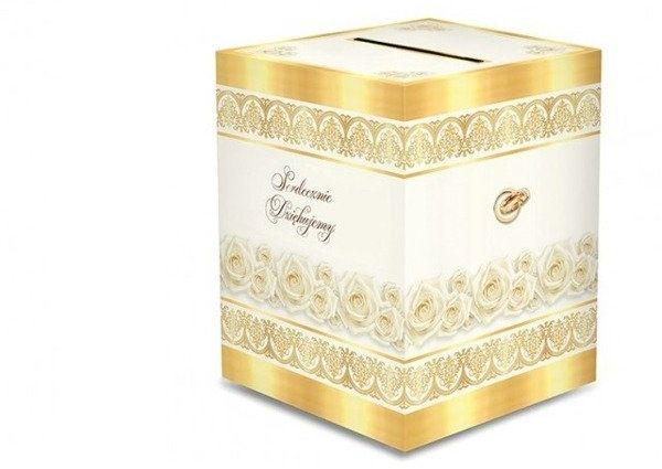 Pudełko weselne na koperty z życzeniami, prezentami 24x24x30cm PUDKP4