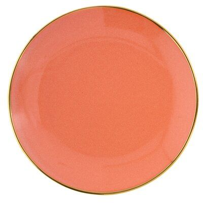 Talerz śniadaniowy DUKA SIREN 21 cm pomarańczowy kamionka