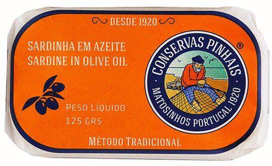 Portugalskie sardynki w oliwie z oliwek 125g