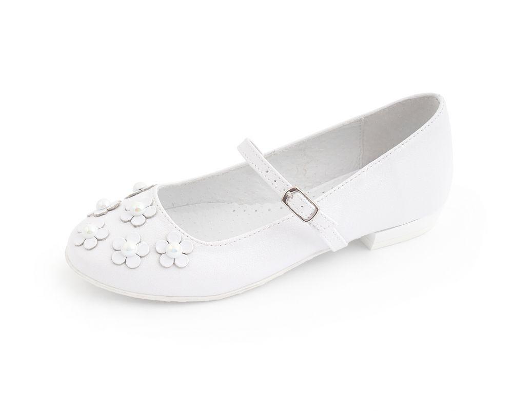 Dziewczęce buty komunijne z perełkami 31-38 BK62 białe