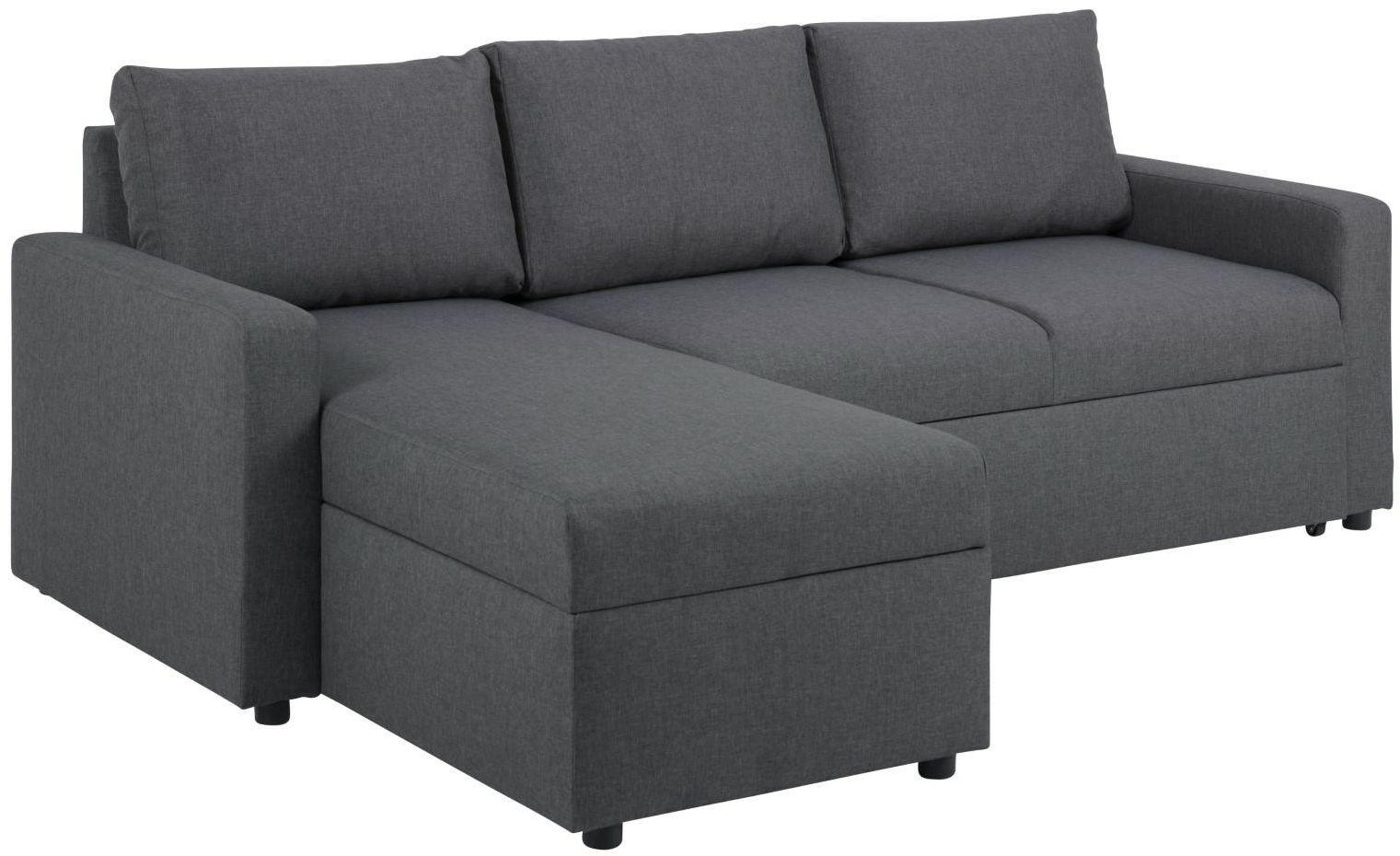 Sofa narożna SACRAMENTO ciemnoszara