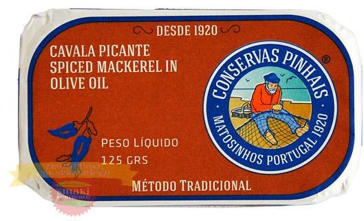 Portugalska mini makrela pikantna w oliwie z oliwek 125g