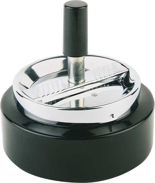 Popielniczka z przyciskiem śr.105mm czarna