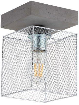 Lampa sufitowa GITTAN 1-punktowa lampa betonowa szara podstawa z metalowym kloszem 8172136