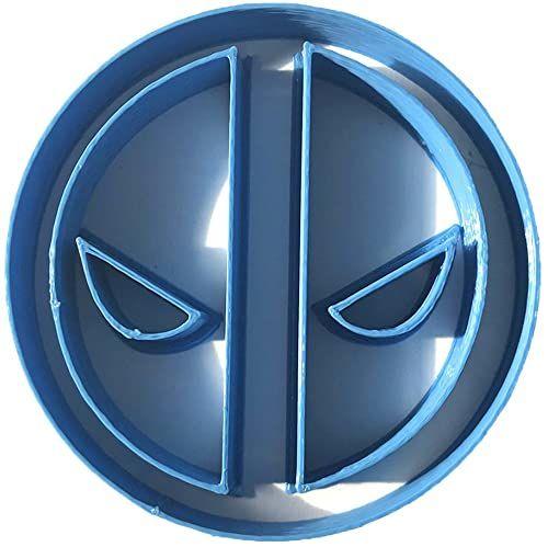 Cuticuter Deadpool Logo wykrawacz do masy cukrowej, niebieski