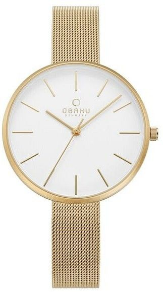 Zegarek Obaku Denmark V211LXGIMG MYNTE - GOLD - CENA DO NEGOCJACJI - DOSTAWA DHL GRATIS, KUPUJ BEZ RYZYKA - 100 dni na zwrot, możliwość wygrawerowania dowolnego tekstu.