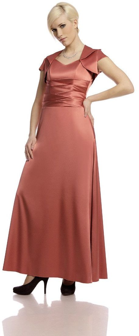 Sukienki Sukienka Suknie FSU160 CEGLASTY