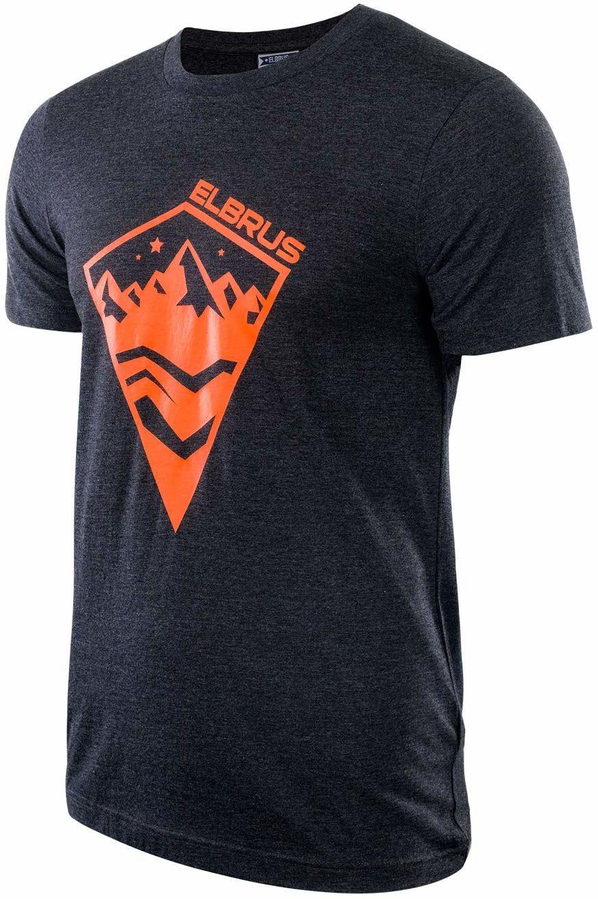Elbrus t-shirt męski Adamas szary ciemnoszary melanż S