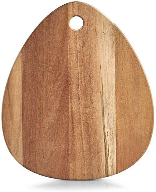 Zeller 25518 deska do krojenia, kształt kropli, akacja, olejowana, ok. 30 x 26 x 2 cm