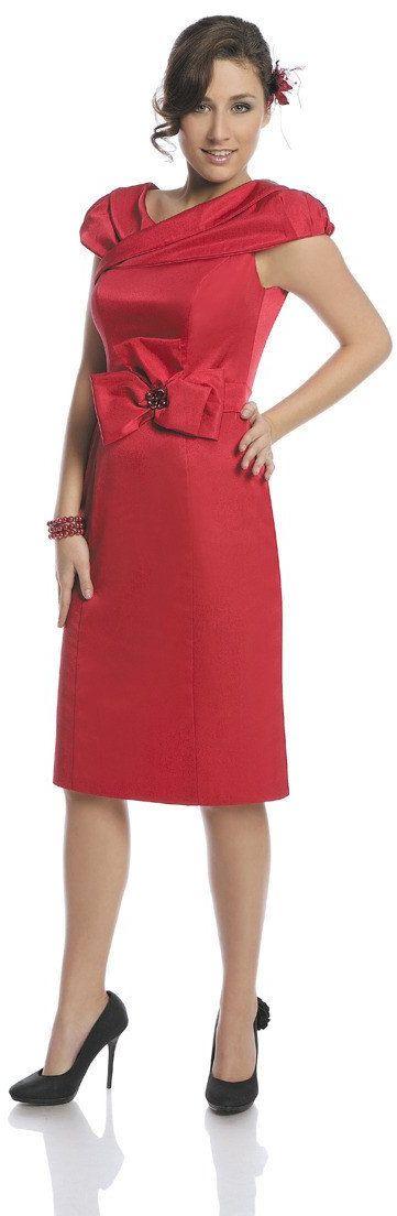 Sukienka FSU243 RUBINOWY JASNY