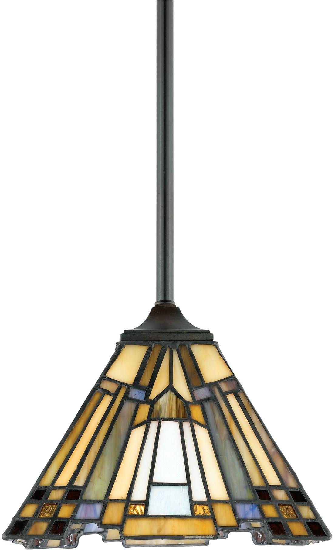 Inglenook lampa wisząca witraż tiffany QZ-INGLENOOK-MP - Quoizel // Rabaty w koszyku i darmowa dostawa od 299zł !