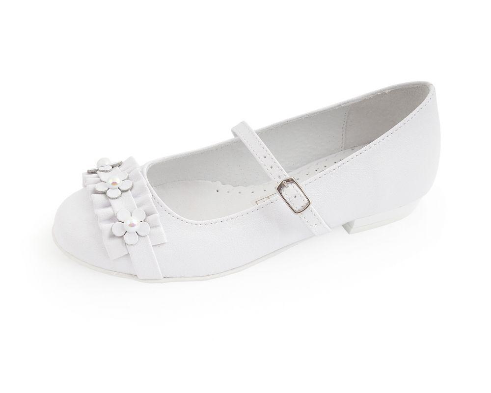 Białe buty komunijne dla dziewczynki 31-38 BK66