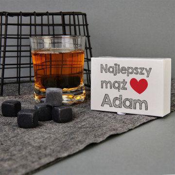 Najlepszy mąż - Kamienie do whisky z nadrukiem