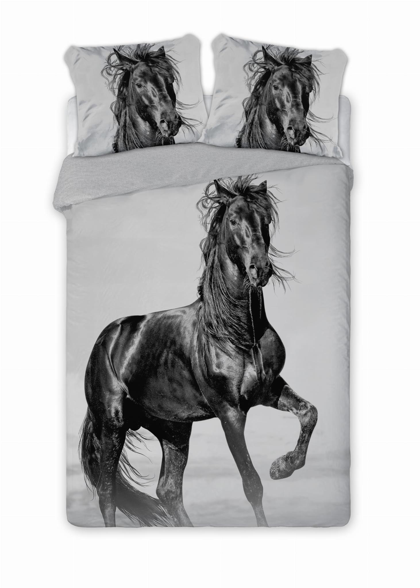 Pościel ekskluzywna perkal 160x200 Koń Mustang