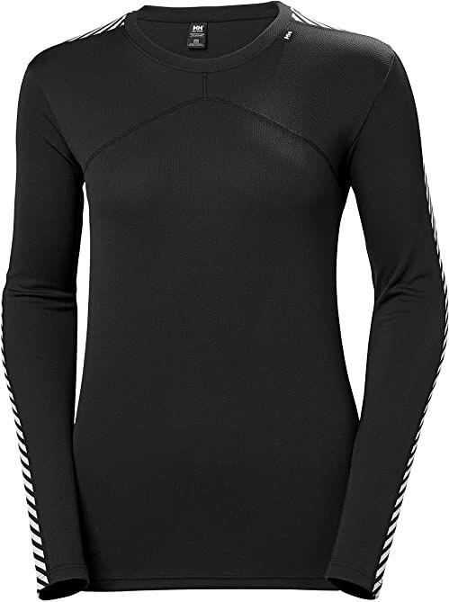 Helly Hansen W HH LIFA CREW koszulka funkcyjna  termoaktywna bielizna sportowa do biegania, czarna (czarna), XL