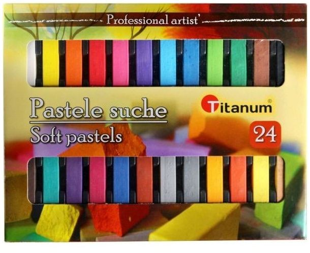 Pastele suche 24 kolory Titanum 312290