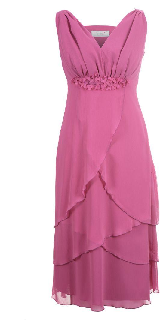 Sukienka FSU220 AMARANTOWY JASNY