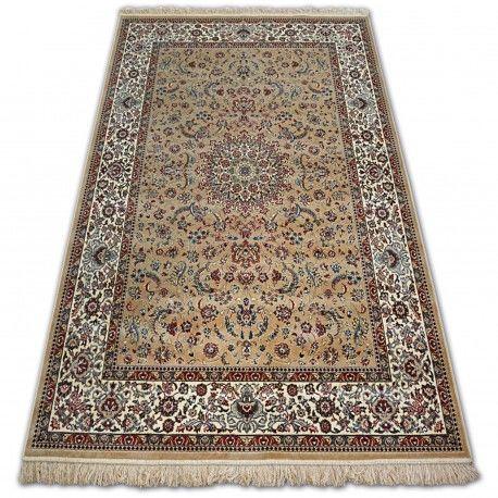 Dywan WINDSOR 22925 berber - Kwiaty ŻAKARD beż 60x100 cm