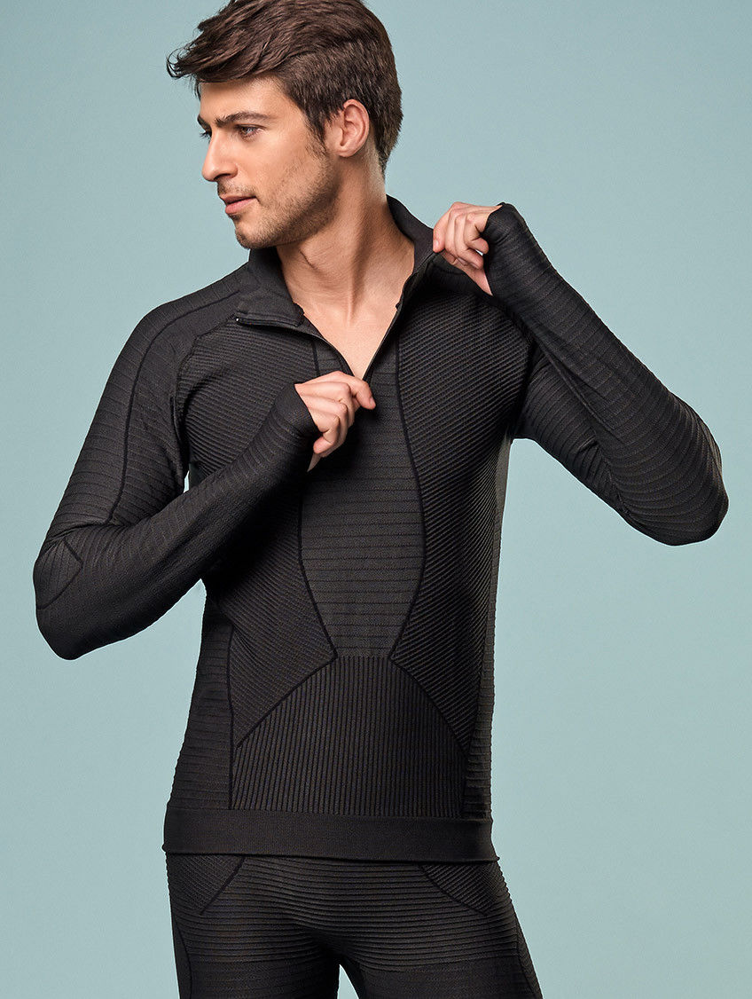 Koszulka sportowa Lupetto Dryarn termoaktywna długi rękaw z zamkiem