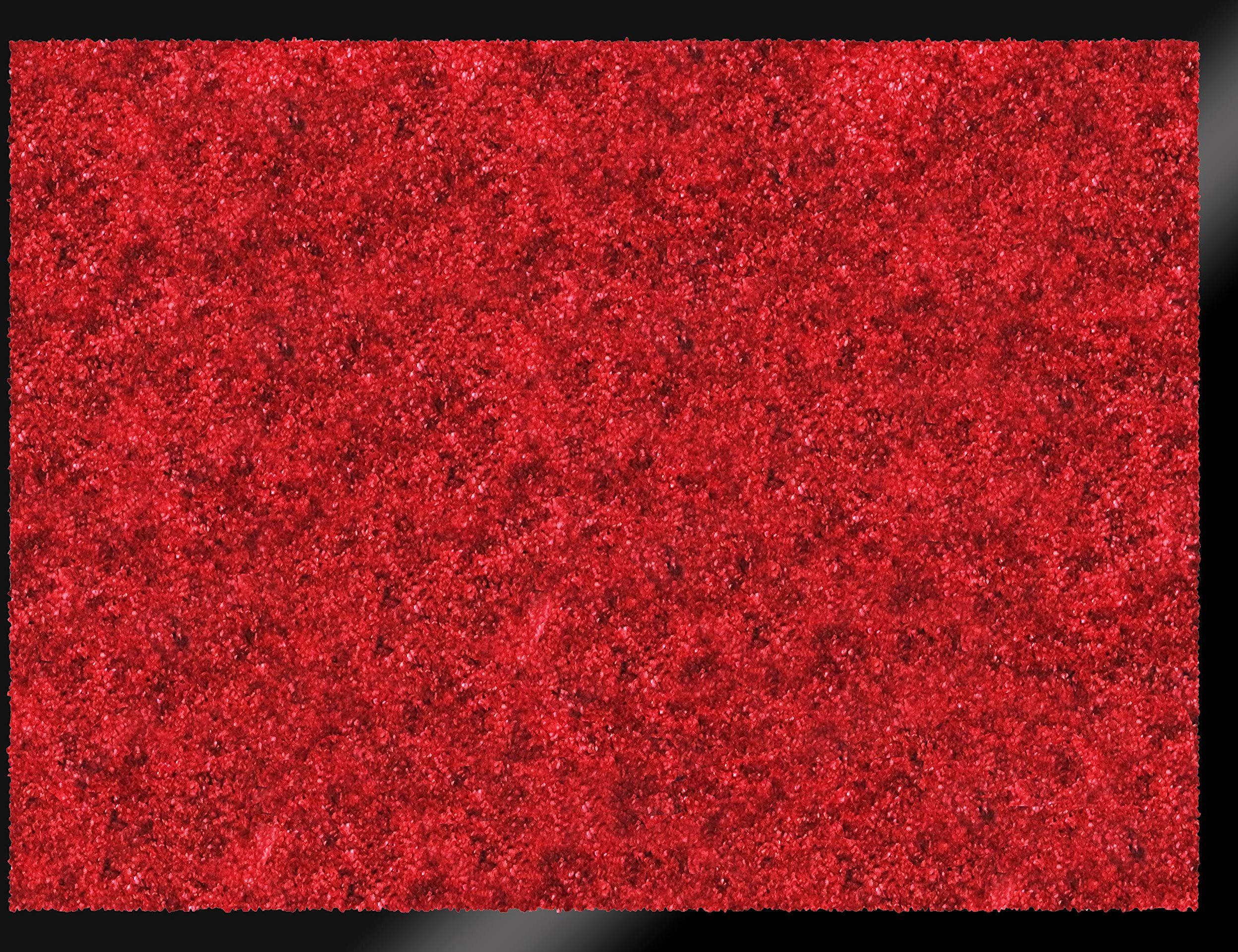 ID mat t miękki, włókna syntetyczne, czerwony, 60 x 80 x 0,9 cm
