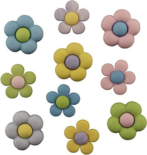 """Buttons Galore Guziki z wytrzymałego tworzywa sztucznego""""Pretty Petals"""", wielokolorowe"""