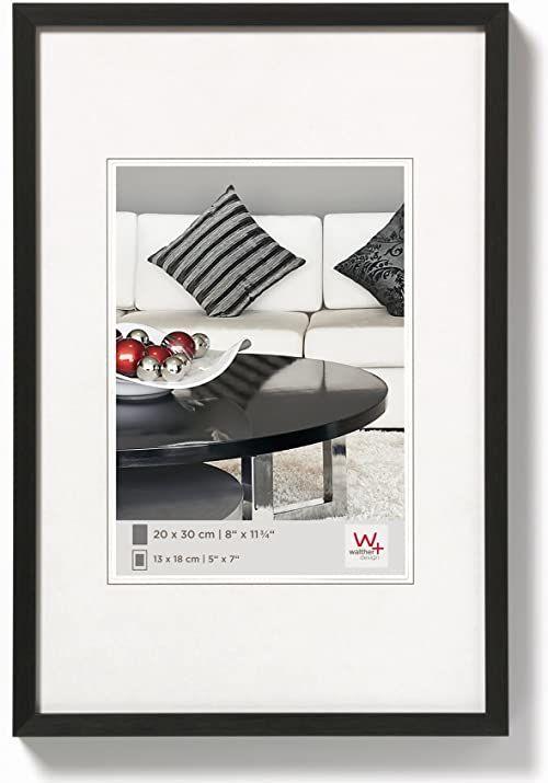walther design AJ460B krzesło, aluminiowa rama 15,75 x 23,50 cala (40 x 60 cm), czarna
