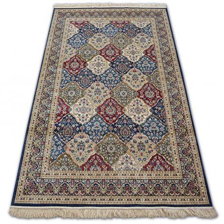 Dywan WINDSOR 22937 ROZETY FRĘDZLE tradycyjny ciemnoniebieski 60x100 cm