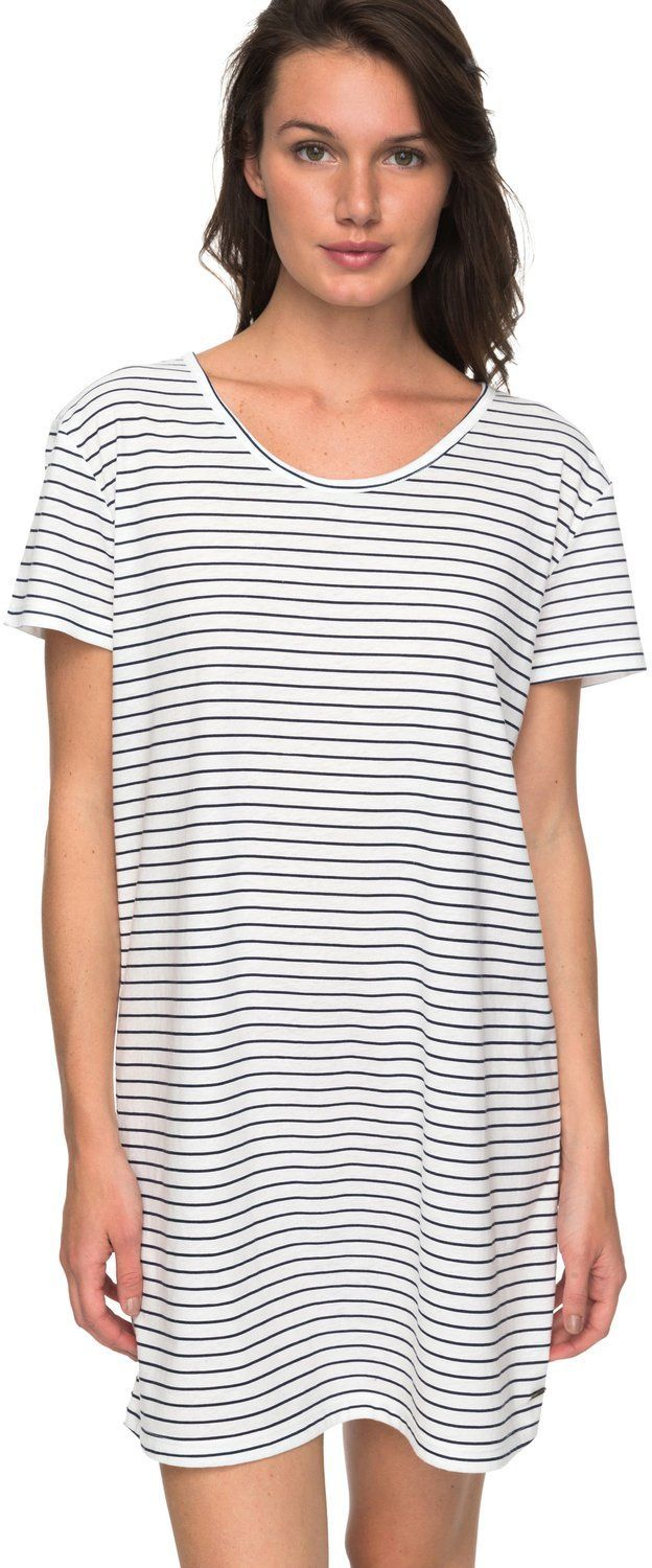 sukienka damska ROXY JUST SIMPLE STRIPE Dress Blue Just Simple Stripe - BTK3