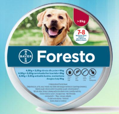 Bayer Foresto Obroża dla psów o masie ciała powyżej 8kg długość 70 cm.