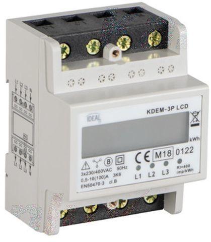 Licznik energii elektrycznej 100A 3x230/400V z wyświetlaczem KDEM-3P LCD 19344