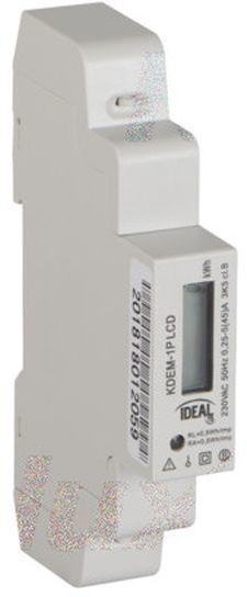 Licznik energii elektrycznej 1-fazowy 45A 230V z wyświetlaczem KDEM-1P LCD 19343