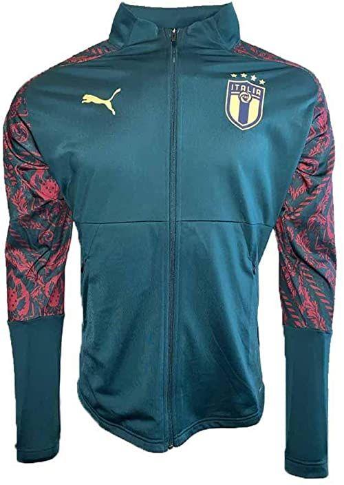 PUMA Kurtka dziecięca FIGC Stadium Third Jacket Jr Ponderosa sosna / Cordovan 164