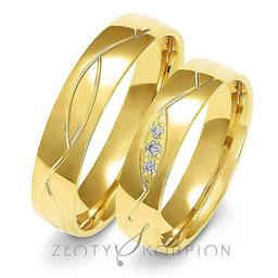 Obrączki ślubne Złoty Skorpion  wzór Au-A152