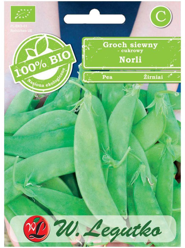 Groch siewny cukrowy NORLI BIO nasiona ekologiczne 15 g W. LEGUTKO