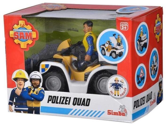Strażak Sam Quad policyjny z figurką - Simba