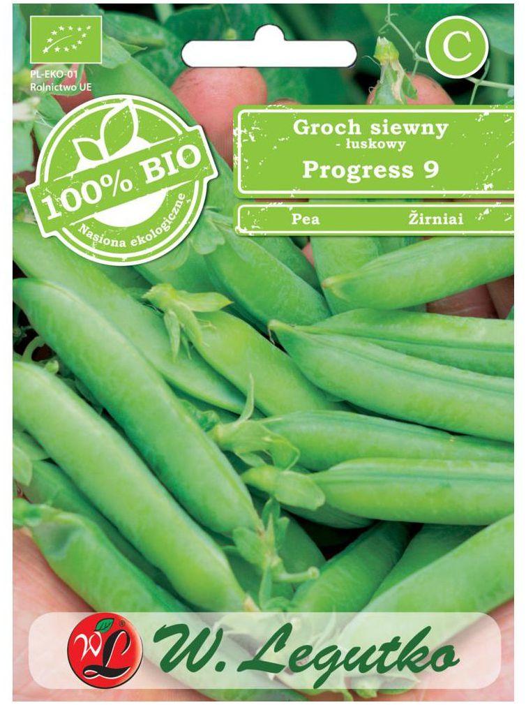 Groch siewny łuskowy PROGRESS 9 BIO nasiona ekologiczne 30 g W. LEGUTKO