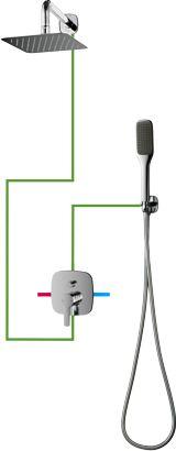 OMNIRES System prysznicowy podtynkowy, chrom Hudson SYSHS24XCR