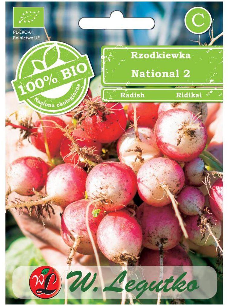 Rzodkiewka NATIONAL 2 BIO nasiona ekologiczne 5 g W. LEGUTKO