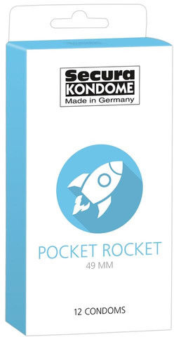 Wąskie prezerwatywy Pocket Rocket 12 szt. 416295