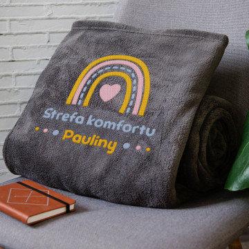 Strefa komfortu - koc z haftem