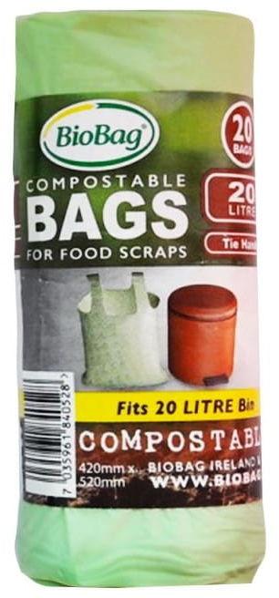 Worki na odpady bio i zmieszane 20 l 20 szt (kompostowalne i biodegradowalne) - biobag